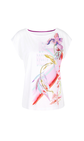 Florales T-Shirt aus Baumwolle