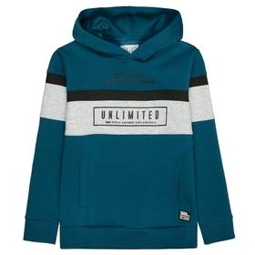 Kapuzensweatshirt UNLIMITED mit farblich abgesetzten Print-Details