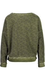 Sweatshirt mit Leoprint