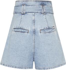 Mom-Jeans-Shorts mit Taillengürtel zum Binden