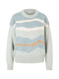 irregular stripe pullover