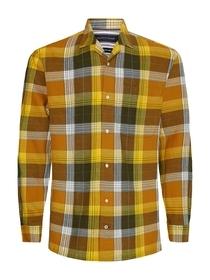 Cotton Linen Check Shirt