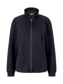 Sweatjacket stand up collar