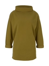Sweatshirt stand up collar