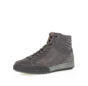 Sneaker high Rauleder grau
