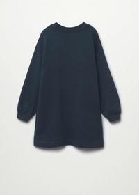 Sweatshirt-Kleid mit Paillettenverzierung