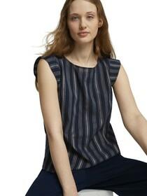 angel sleeve striped top
