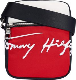 Kleine Reporter-Tasche mit Tommy-Stickerei