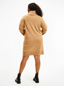 Crv  Softwool Roll-Nk Knee Dress