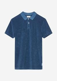 Polo shirt, short sleeve, with rib
