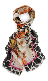 Floral bedruckter Schal