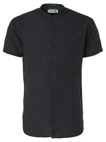 All Over Printed Granddad Collar Short Sleeve Shirt