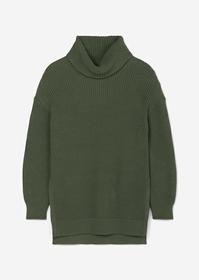 Rollkragen-Pullover aus Organic Cotton