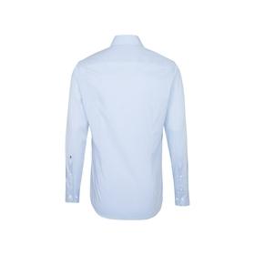 Bügelfreies Fil a fil Business Hemd in Shaped mit Kentkragen