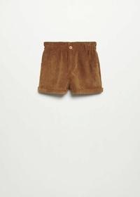 Paperbag-Shorts aus Cord