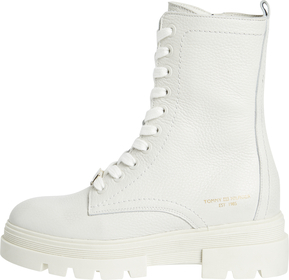 Monochromatic Lace Up Boot