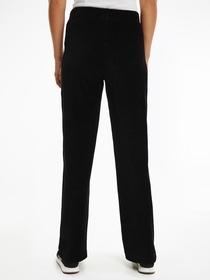 Hose mit weitem Bein aus Kordsamt-Jersey