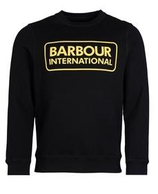 "Sweatshirt ""B.Intl"" mit großem Logo"