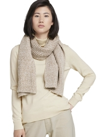 scarf knitted mouline