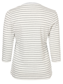 T-Shirt Rundhals 3/4 Arm Ringel Motiv