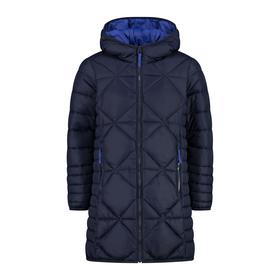 Wattierter Mantel mit Rautensteppung