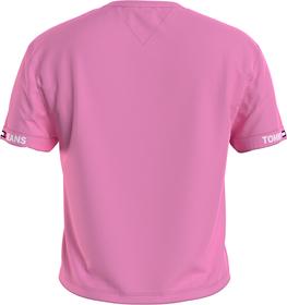 Cropped Fit T-Shirt mit Logo-Ärmeln