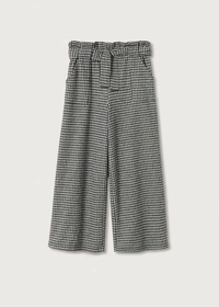 Culotte-Hose mit Hahnentrittmuster