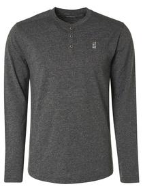T-Shirt Long Sleeve Granddad 2 Coloured Melange Organic Cotton