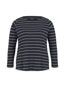 T-shirt crew neck striped
