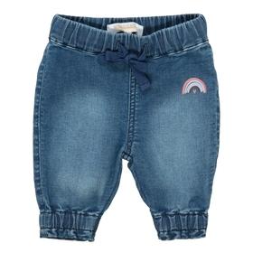 Jeans mit Regenbogen-Print