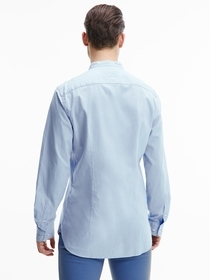 Slim Fit Hemd mit Mandarin-Kragen