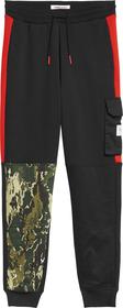 Camouflage Jogginghose im Farbblockdesign