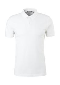 Poloshirt mit Waffelpiqué-Struktur