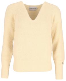 Chenille-Pullover mit V-Ausschnitt