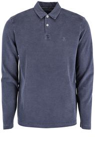 Langarm-Poloshirt Regular in Garment-Dye-Qualität