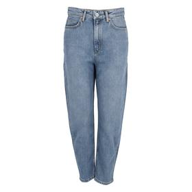 Denim Trouser, bow leg, high waist,