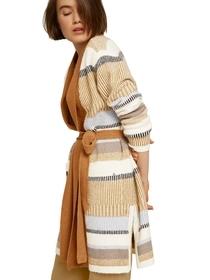 cozy patchwork cardigan