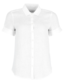 Blouse, kent collar, short sleeved,
