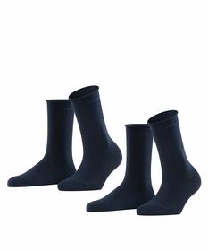 Socken mit Rollbündchen aus Baumwoll-Mix