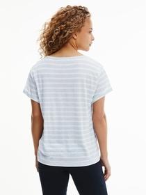 T-Shirt aus Leinenmix