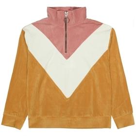 Troyer-Sweatshirt im samtigen Look