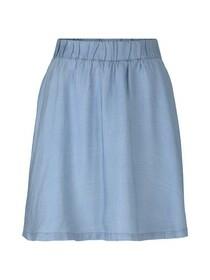 flared chambray skirt