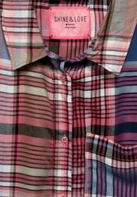 LTD QR Check shirtcollar blous