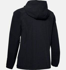 Webstoff-Hoodie mit Logo und durchgehendem Zip