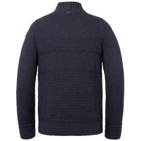Mock neck cotton structure knit