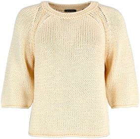Kurzarm-Pullover aus Bändchengarn