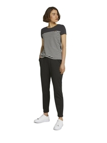 striped  tee with embro