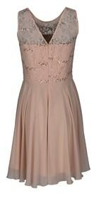 Kleid aus Chiffon mit Glitzers