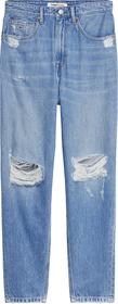 Mom Tapered Leg Jeans mit ultrahohem Bund