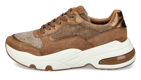 Bulky Sneaker aus softem Velours-Wolle-Mix